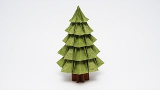 getlinkyoutube.com-ORIGAMI CHRISTMAS TREE v2 (Jo Nakashima)