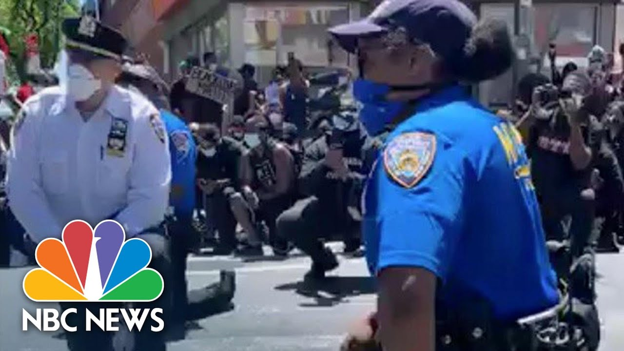 New York Police Take a Knee Too