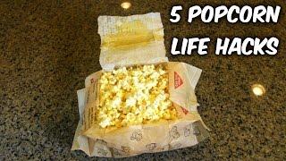 getlinkyoutube.com-5 Popcorn Life Hacks