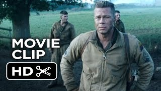 getlinkyoutube.com-Fury Movie CLIP - Hold This Crossroad (2014) - Brad Pitt War Drama Movie HD