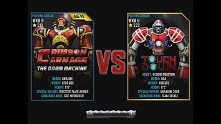 Real Steel WRB Crimson Carnage VS Touchdown WRB II NEW ROBOT Christmas updating