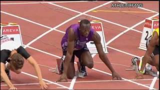 getlinkyoutube.com-IAAF Diamond League (Paris) 100m M - Bolt vs Powell - 16/7/2010