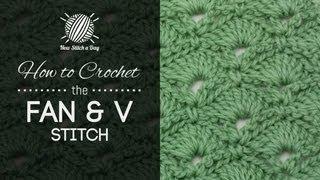 getlinkyoutube.com-How to Crochet the Fan and V Stitch