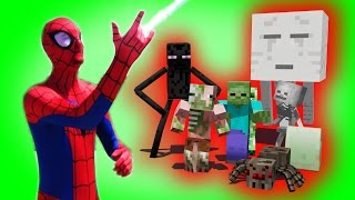 getlinkyoutube.com-Monster School: Superhero Spiderman | Hulk | Star Wars Boys vs. Girls | (Monster School Compilation)