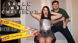 getlinkyoutube.com-Saran Wrap Challenge!!!