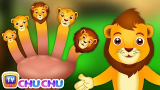 getlinkyoutube.com-Finger Family Lion | ChuChu TV Animal Finger Family Songs & Nursery Rhymes For Children