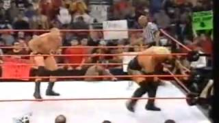 getlinkyoutube.com-Brock Lesnar Attacks Rikishi RAW 03/25/02