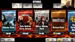 WWE Immortals #80 - 2 Gold Pack Openings Today!!! Seth Rollins?
