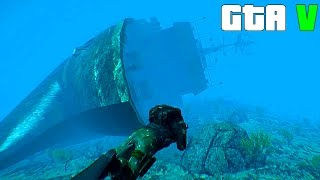 getlinkyoutube.com-Grand Theft Auto V - A huge Sunken Ship - GTA 5 Gameplay