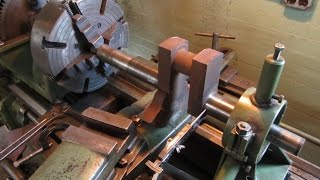 getlinkyoutube.com-OLD STEAM POWERED MACHINE SHOP 14  Steam engine crankshaft