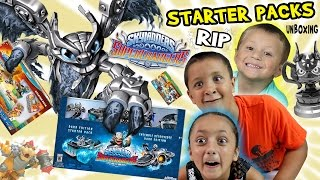 "getlinkyoutube.com-Skylanders SuperChargers: WHAT A ""RIP""!?!?  Starter Pack Unboxing: Dark Edition, WiiU & Xbox One Fun"
