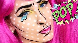 getlinkyoutube.com-HALLOWEEN TUTORIAL | CARTON POP ART GIRL
