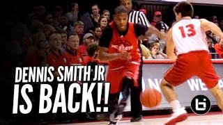 getlinkyoutube.com-Dennis Smith Jr Making College Look Easy at Primetime with the Pack