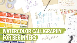 getlinkyoutube.com-Watercolor Calligraphy For Beginners