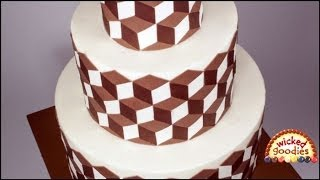 Optical Illusion Cake with Modeling Chocolate