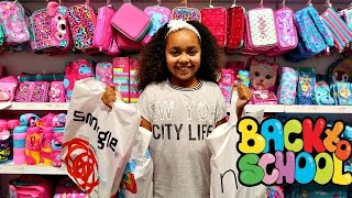getlinkyoutube.com-BACK TO SCHOOL SHOPPING! SHOES & CLOTHES SUPPLIES Toys AndMe