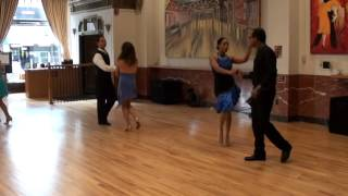 Venkat/Lily, Pat/Nicole Salsa 2 Jack and jill