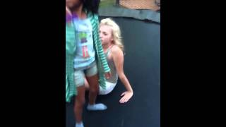 getlinkyoutube.com-Skai Jackson and Peyton List on trampoline