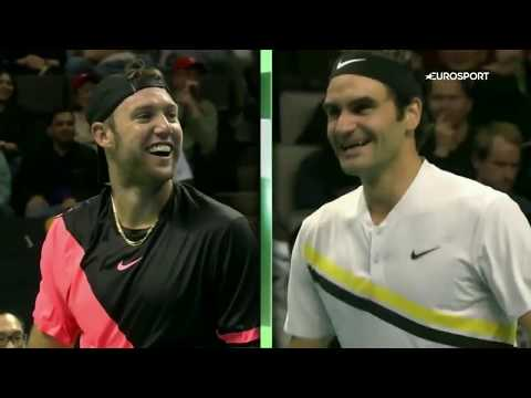 Jack Sock cheats Roger Federer with an underhand ace - Match for Africa 5