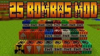 getlinkyoutube.com-+25 Bombas!! NUCLEAR MOD - MINECRAFT Mod