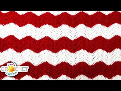 Crochet Chevron, Ripple, Zig Zag, Wave - Blanket Pattern