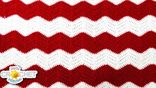 getlinkyoutube.com-Crochet Chevron, Ripple, Zig Zag, Wave - Blanket Pattern