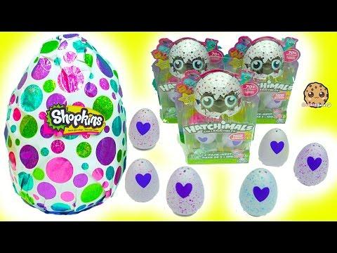 Hatchimals Hatching Surprise Blind Bag Baby Eggs + Giant Shopkins Egg