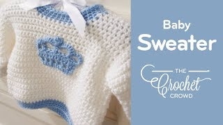 getlinkyoutube.com-How To Crochet A Baby Sweater: Baby & Toddler Size