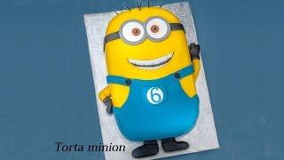 getlinkyoutube.com-Torta minion ,tutorial passo passo ricetta semplice
