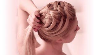 getlinkyoutube.com-Tresse cascade criss cross ❤ Tuto coiffure facile à faire soi même