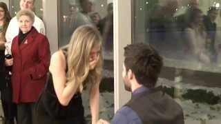 getlinkyoutube.com-Best Surprise Proposal at Nursing School Graduation (Jason Derulo - Marry Me)