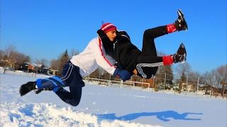getlinkyoutube.com-WWE MOVES IN THE SNOW 2