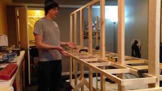 getlinkyoutube.com-How to Build Model Railroad Benchwork - Open Grid