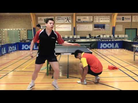 Table Tennis - Chinese Footwork Part 2 - Connecting Forehand And Backhand