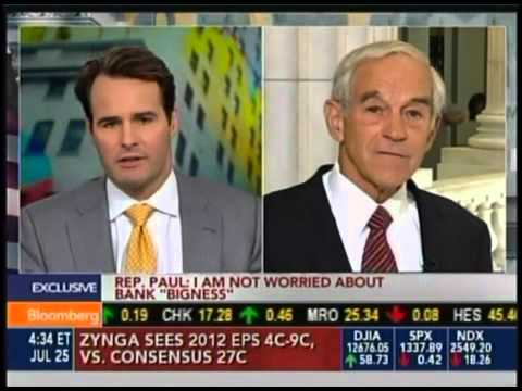 Congressman Ron Paul on Bloomberg News July 25, 2012