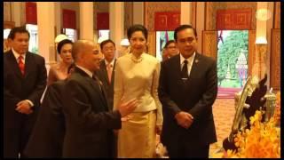 getlinkyoutube.com-นายกรัฐมนตรีและภริยา เข้าเฝ้าฯพระบาทสมเด็จพระบรมนาถนโรดม สีหมุนี กษัตริย์แห่งราชอาณาจักรกัมพูชา