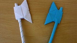 getlinkyoutube.com-How to Make a Paper Battle Axe - Easy Tutorials