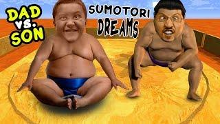 getlinkyoutube.com-Dad vs. Son SUMO WRESTLING! Sumotori Dreams Co-Op Gameplay w/ Face Cam!