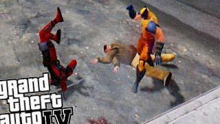 getlinkyoutube.com-GTA IV - Deadpool (Hack & Slash Mod) vs Wolverine