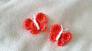 getlinkyoutube.com-How to crochet a butterfly - Easy butterfly for beginners by BerlinCrochet