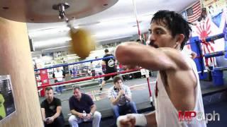 getlinkyoutube.com-Manny Pacquiao - HARD HITTING SPEED BAG