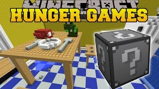 Minecraft: KITCHEN HUNGER GAMES - Lucky Block Mod - Modded Mini-Game