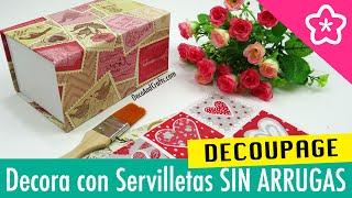 getlinkyoutube.com-DECORAR CON SERVILLETAS DE PAPEL SIN ARRUGAS Hacer Decoupage Perfecto - DecoAndCrafts