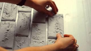 getlinkyoutube.com-мастер-класс : кирпичная стена из пенопласта | DIY brick wall of foam