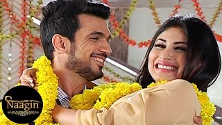 getlinkyoutube.com-Naagin | Ritik & Shivanya's CUTE NOKK JHOKK | On Location