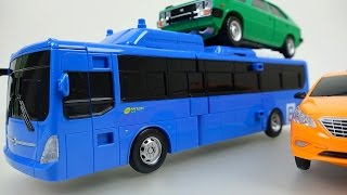 getlinkyoutube.com-CarBot Bus 헬로카봇 Hello CarBot transformers car toys