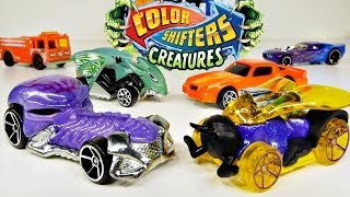 getlinkyoutube.com-Hot Wheels Stunt 'N Dunk PLAY DOH Surprise Eggs Color Shifters Toys by Disney Cars Toy Club