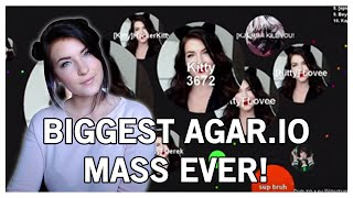 getlinkyoutube.com-RECORD BREAKING AGAR.IO GAME! MOST MASS EVER | Kitty Plays