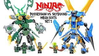 getlinkyoutube.com-Ninjago Possession vs Skybound Mech Suit Unofficial LEGO Knockoff Set 1 Speed Build