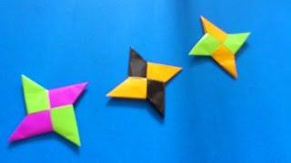 getlinkyoutube.com-Cara Membuat Origami Shuriken Ninja 4 Bintang | Origami Shuriken Ninja